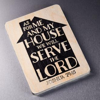 MGW 032 Magnet - As For Me And My House We Will Serve The Lord